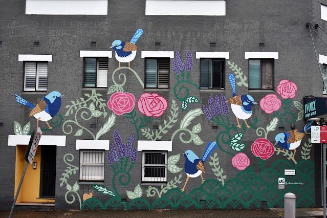 Concord West | Fairy Wren Mural by Ellen Marie