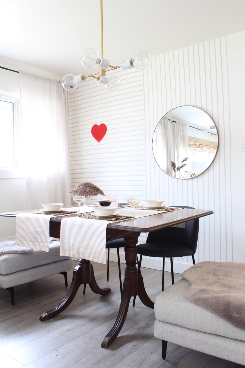 Modern Valentines day table