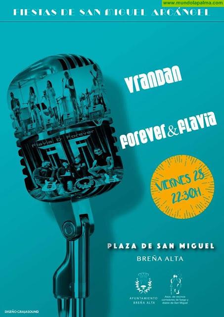 Fiestas de San Miguel Arcángel, en Breña Alta, concierto con VRANDAN y Forever&Flavia