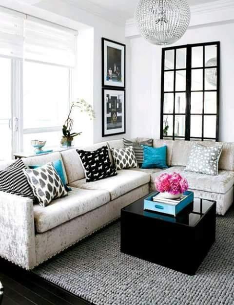 Decoraci n de salas esquineras for Estilo hogar muebles