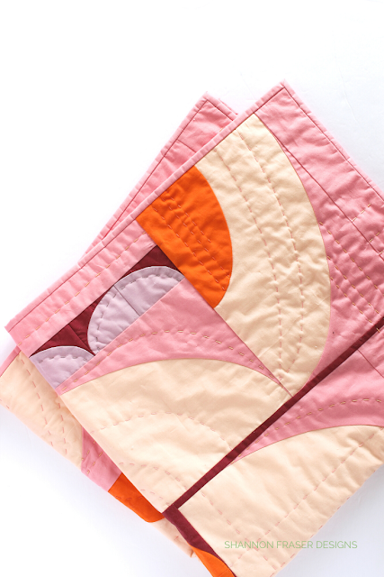 Peach, Lavender, Coral, Orange and Burgundy Cloud Surfing quilt | 7 handmade gift ideas for mother's day | Shannon Fraser Designs