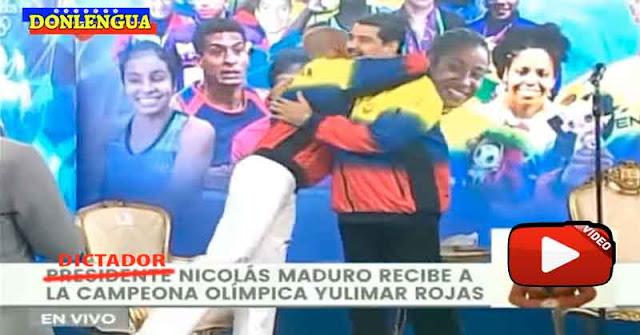 Yulimar Rojas fue a Miraflores a cobrarle los 50.000 a Maduro por haberlo saludad por celular