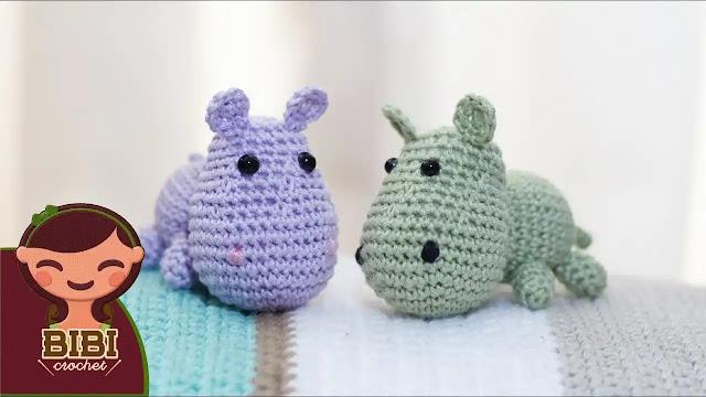 Cómo tejer un lindo hipopótamo amigurumi a crochet