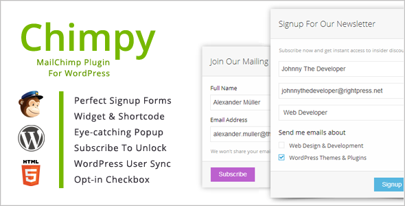 Download Free Chimpy v2.1.3 MailChimp WordPress Plugin