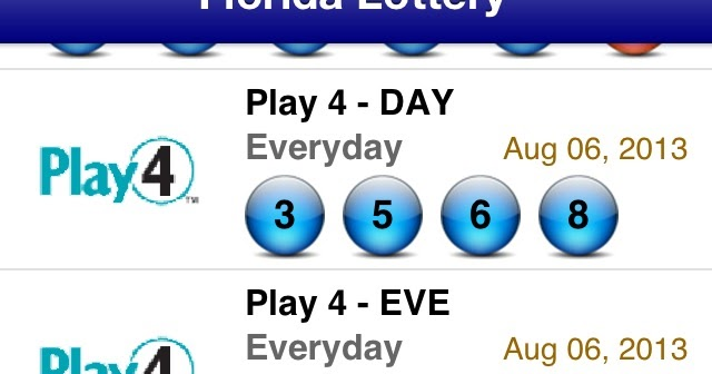 Include Winning lottery numbers history florida   Lot of win