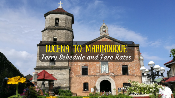 Lucena to Marinduque ferry schedule