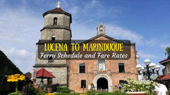 Lucena to Marinduque ferry schedule