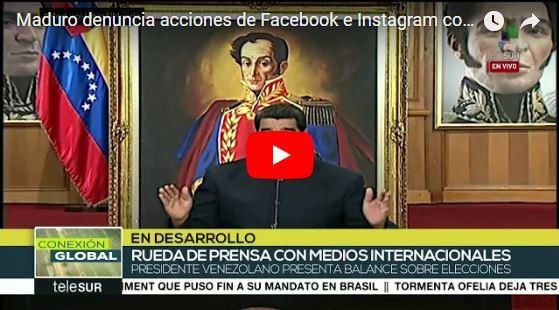 Nicolás Maduro amenaza a dueños de Facebook e Instagram y promete una sorpresa