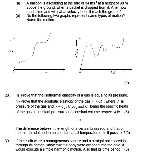 Sample paper for  physics class 11,Important questions for exam,