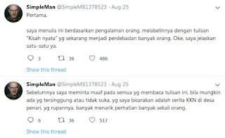 Viral, Klarifikasi Cerita KKN Desa Penari by @SimpleM81378523