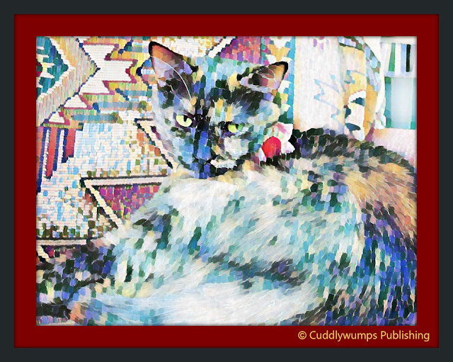 Real Cat Paisley with Delaunay art effect