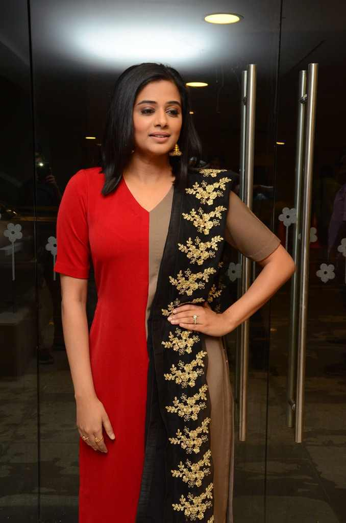 Indian Actress Priyamani Stills In Hot Red Dress At Moie Audio Launch