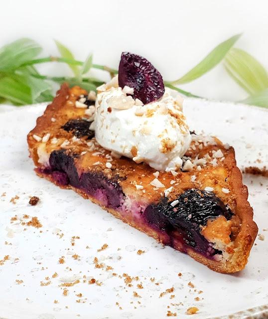 tarte aux cerises et amandes, sans gluten
