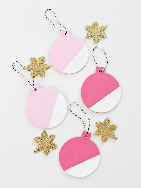 Color Block Christmas Ornaments