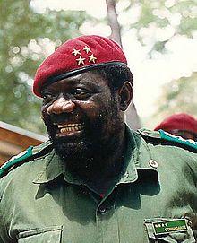 Jonas Savimbi, leader de l'Unita