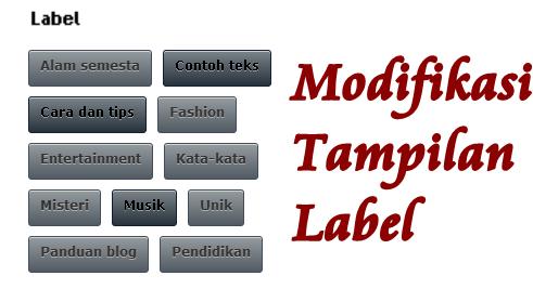 Cara ModifikasI Tampilan Label Blog Keren