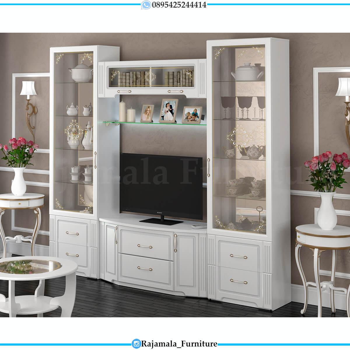 Bufet TV Mewah Minimalis Putih Elegant Color Glossy Luxury RM-0660