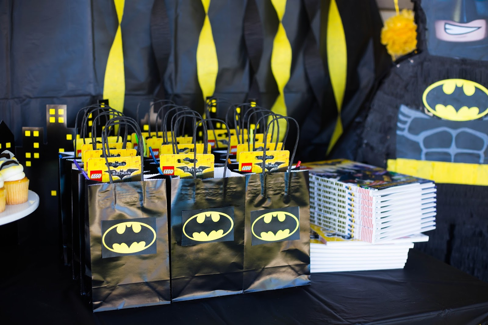 Black Birthday Party Bags