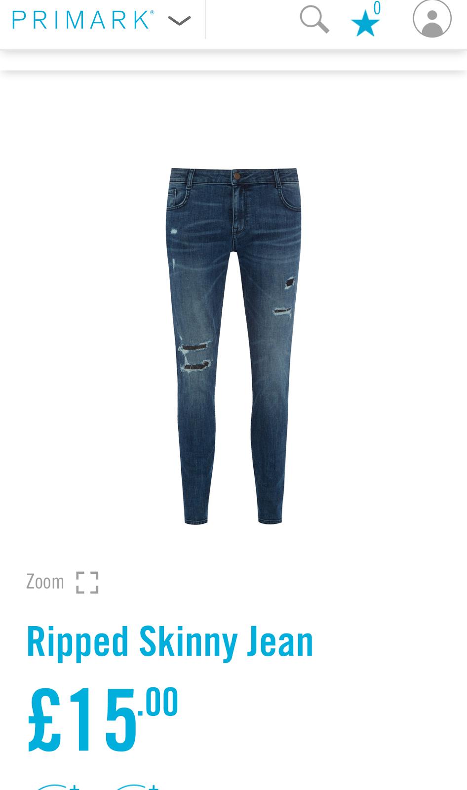 Primark Skinny Ripped Jeans