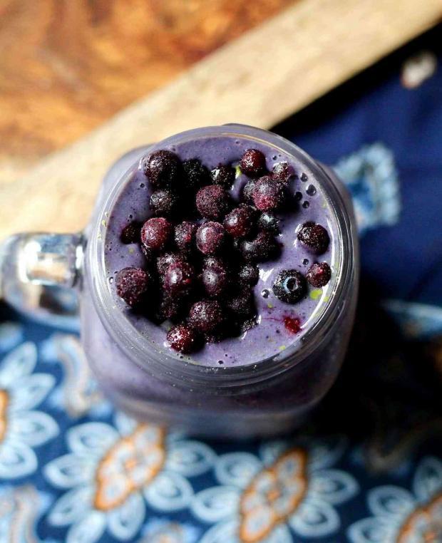 مقادير سموثي البلو بيري - Blueberry Smoothie