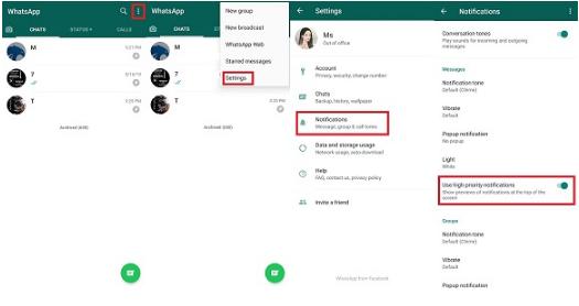 Cara Sembunyikan Isi Pesan WhatsApp di Notifikasi Pop Up