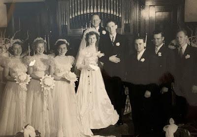 Albert Burdick and Dorothy Cline Burdick Wedding Day