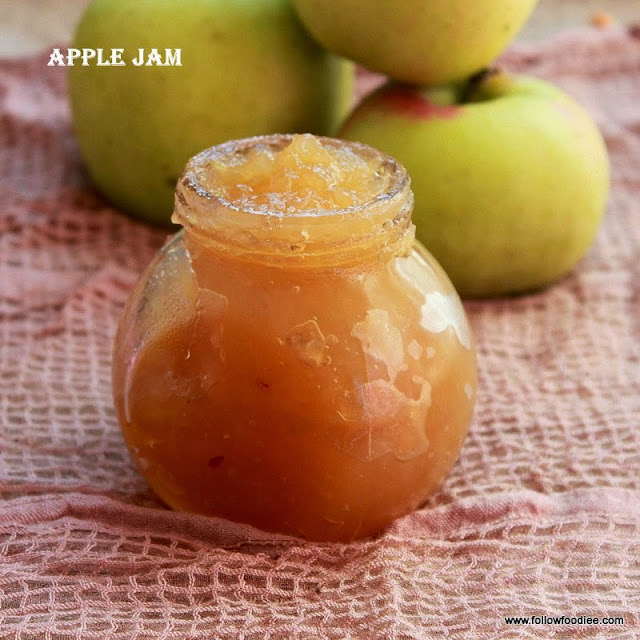 Apple jam made with only 3 ingredients . Easy and simple
