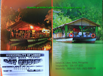 Loboc rive cruise postcard / receipt