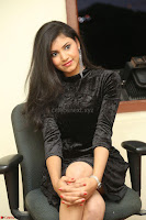 Mounika in a velvet short black dress for Tick Tack Movie Press Meet March 2017 013.JPG