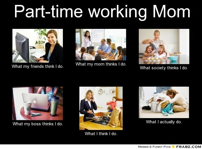 frabz Parttime working Mom What my friends think I do What my mom thin 0bc9ed a z blogging challenge, part 4,Working Mom Memes