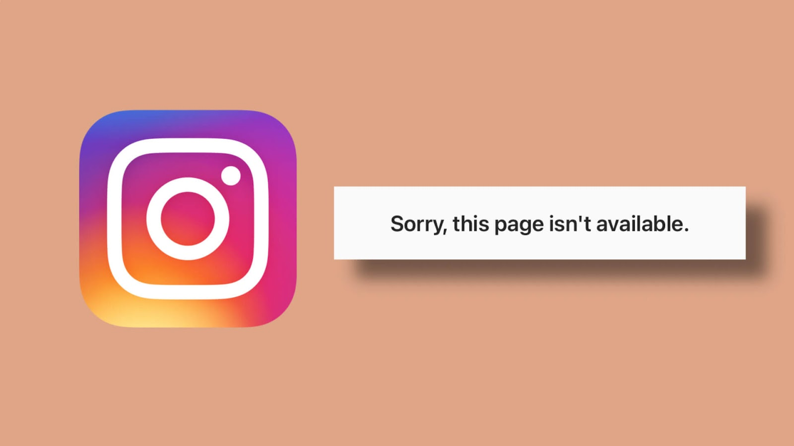 Fix sorry this page isn't available on Instagram