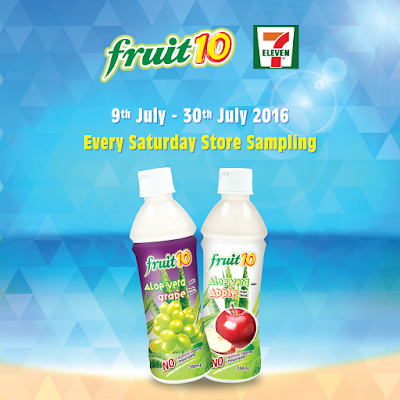 Free Samples Fruit 10 Aloe Vera drinks in Apple and Grape flavour