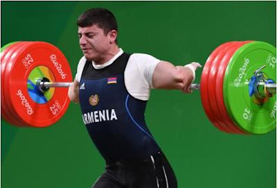 Atlet Angkat Besi Armenia Mengalami Dislokasi Siku Pada Lomba Olimpiade 2016