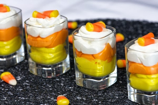 Candy Corn Pudding - Featured