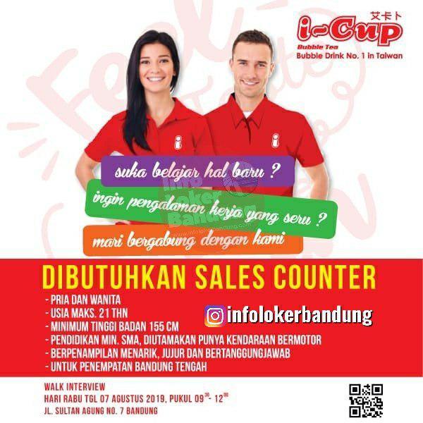 Lowongan Kerja Sales Counter I-Cup Bubble Tea Bandung Agustus 2019