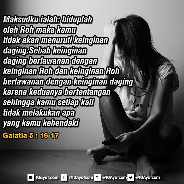 Galatia 5: 16-17