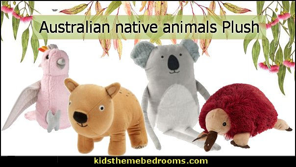 australian native animal plush pillows  australian native animal plush toys koala echidna wombat