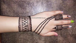 New finger mehndi design
