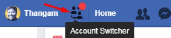 account switcher in facebook