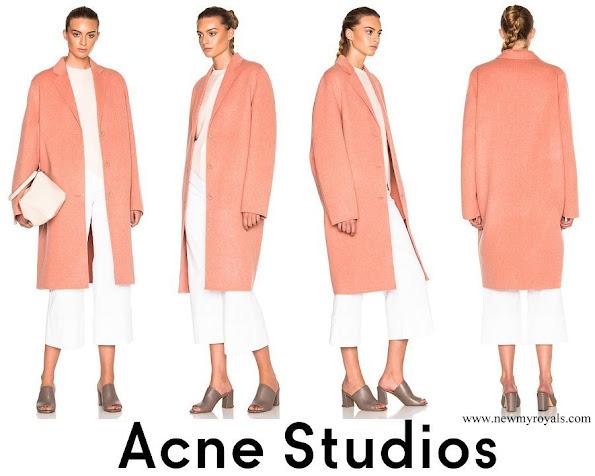 Crown Princess Victoria wore Acne Studios Avalon Double Coat