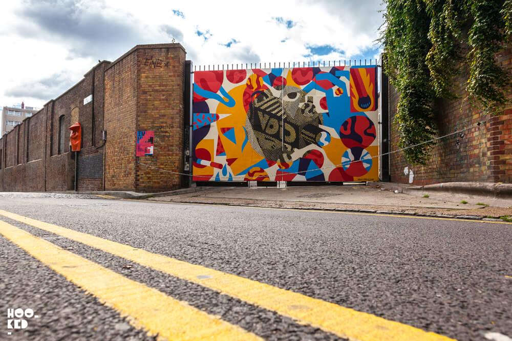 Portuguese artist AKACorleone Brick Lane Street Art