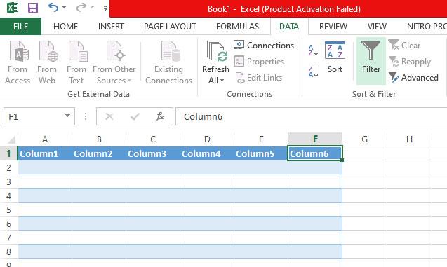 Cara Menyembunyikan Filter atau Sort di Microsoft Excel