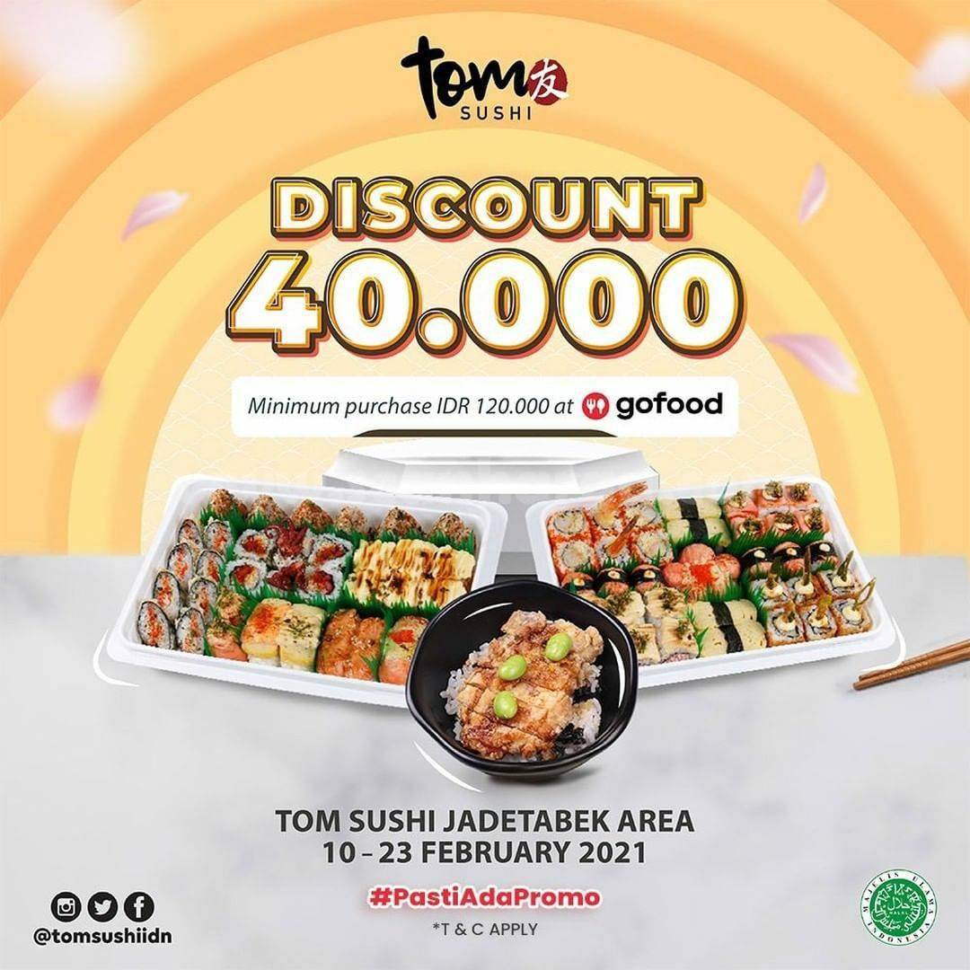 TOM SUSHI Spesial Promo GOFOOD DISKON Rp 40.000