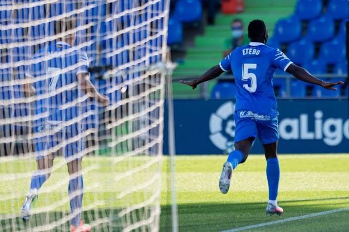 Oghenekaro Etebo made his return from injury in Getafe win