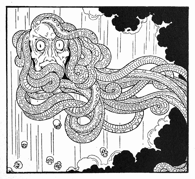 Antonio Rubino, hideous things falling from the sky