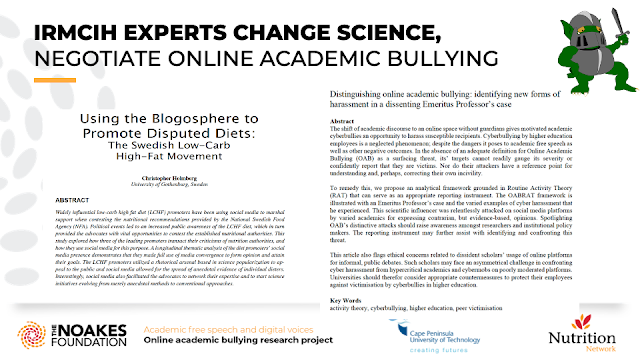 IRMCIH EXPERTS CHANGE SCIENCE, NEGOTIATE ONLINE ACADEMIC BULLYING