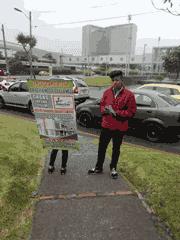 entrega de volantes