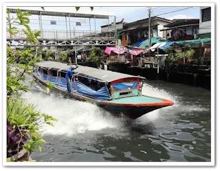 Canal Taxi di Bangkok Thailand