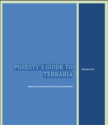 POZESTY'S GUIDE TO TERRARIA | Free PDF Link