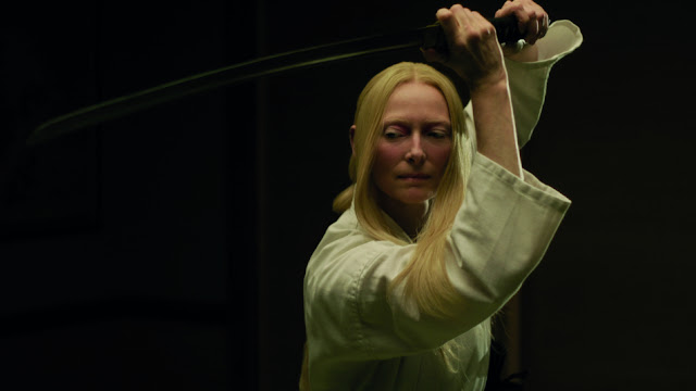 tilda swinton with a sword appropriates eastern culture again